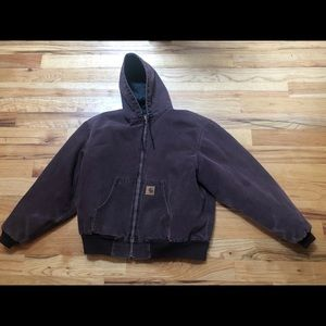 Vintage Carhartt 2XL purple canvas style work coat